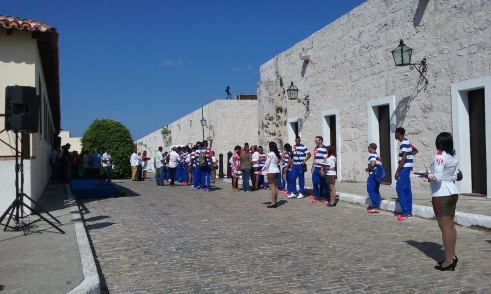 Cuban Olympic team at the fort!