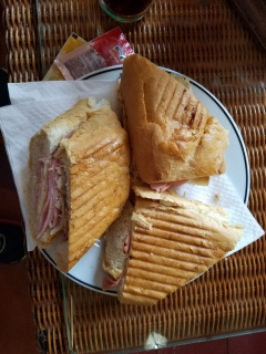 """Cuban sandwich"" from Hotel Nacional"