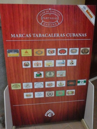 Brands produced by Partagas