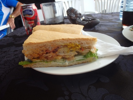 Chicken sandwich with veggies