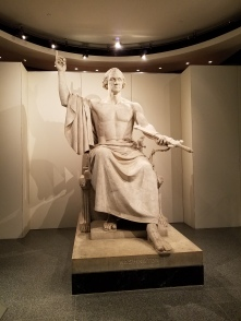 Strange sculpture of George Washington
